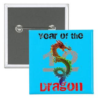 Año del botón del dragón 2012 pins