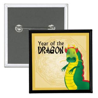 Año del botón del dragón pins