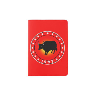 Año del buey 1997 porta pasaporte