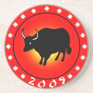 Año del buey 2009 posavasos personalizados