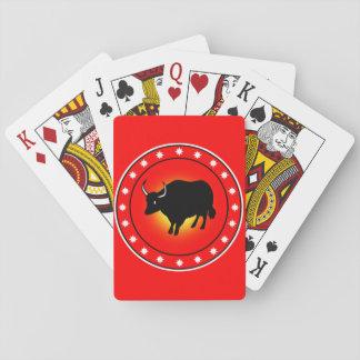 Año del buey barajas de cartas