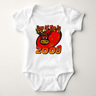 Año del buey body para bebé