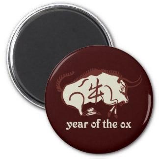 año del buey imán redondo 5 cm