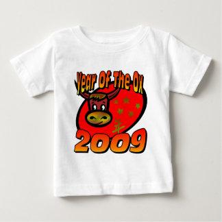 Año del buey playera de bebé