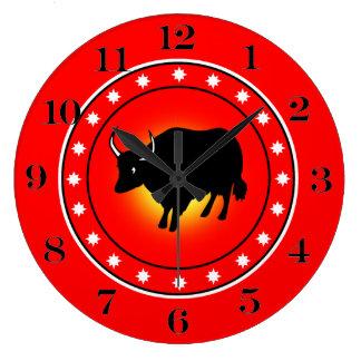 Año del buey reloj de pared