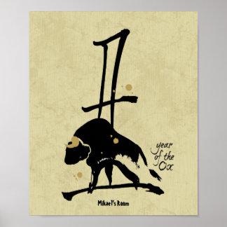 Año del buey - zodiaco chino póster