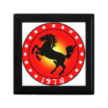 Año del caballo 1978 cajas de joyas