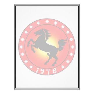 """Año del caballo 1978 folleto 8.5"""" x 11"""""""