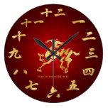 Año del caballo 2014 - Año Nuevo lunar chino Relojes De Pared