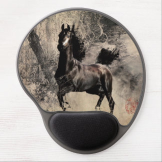 Año del caballo 2014 - arte de la pintura china alfombrilla con gel