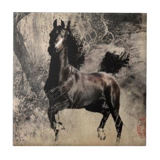 Año del caballo 2014 - arte de la pintura china teja cerámica