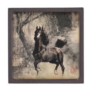 Año del caballo 2014 - arte de la pintura china cajas de joyas de calidad