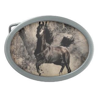 Año del caballo 2014 - arte de la pintura china hebilla de cinturon