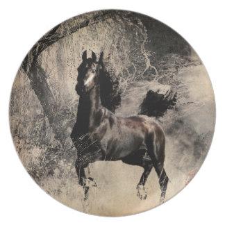 Año del caballo 2014 - arte de la pintura china plato de comida
