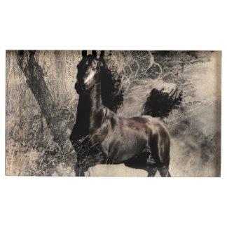 Año del caballo 2014 - arte de la pintura china soportes para tarjetas de mesa