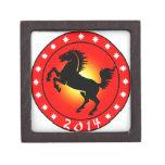 Año del caballo 2014 cajas de joyas de calidad