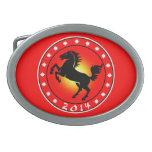 Año del caballo 2014 hebillas cinturon ovales