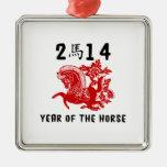 Año del caballo 2014 ornamentos de reyes magos