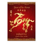 """Año del caballo 2014 - tarjeta china del Año Nuevo Invitación 4.5"""" X 6.25"""""""