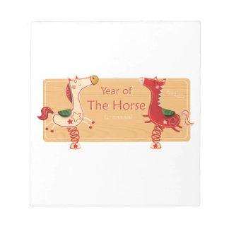Año del caballo bloc de notas