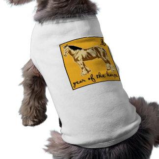 Año del caballo camisetas de perrito