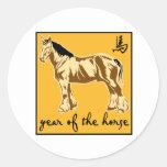 Año del caballo etiquetas redondas
