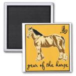 Año del caballo iman de nevera