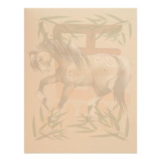 Año del caballo letterhead_vertical. membretes personalizados