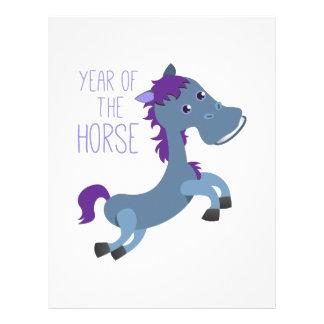 Año del caballo membrete personalizado