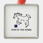 Año del caballo ornaments para arbol de navidad