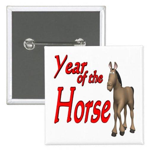 Año del caballo pin