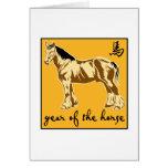 Año del caballo tarjeton