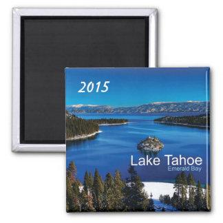 Año del cambio del imán del refrigerador del lago