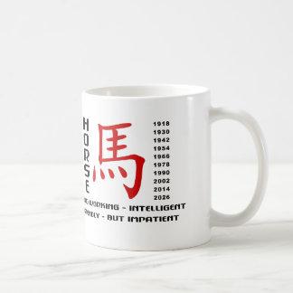 Año del carácter del caballo taza de café