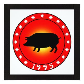 Año del cerdo 1995 comunicados personalizados