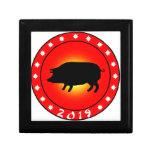 Año del cerdo 2019 caja de joyas