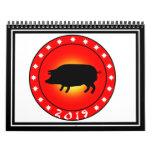 Año del cerdo 2019 calendarios