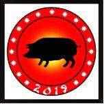 Año del cerdo 2019 escultura fotografica