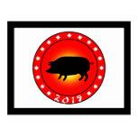 Año del cerdo 2019 postal