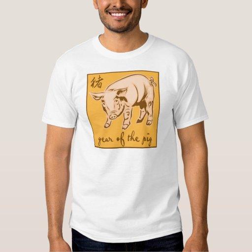 Año del cerdo camisas