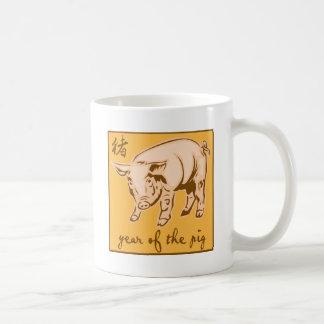 Año del cerdo taza