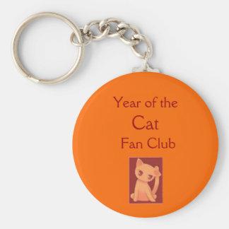 Año del club de fans del gato llaveros