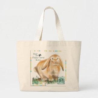 Año del conejito Flojo-Espigado/del Año Nuevo chin Bolsas