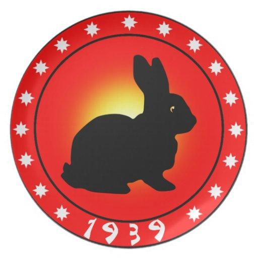 Año del conejo 1939 platos