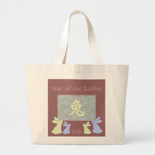 Año del conejo 2011 bolsas de mano