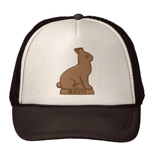 """Año del conejo 2011 """"chocolate """" gorros bordados"""