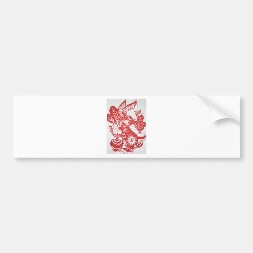 Año del conejo 2011 etiqueta de parachoque