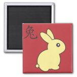 Año del conejo - 2011 imán cuadrado