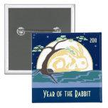 Año del conejo 2011 pin