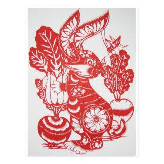 Año del conejo 2011 tarjeta postal